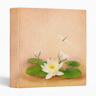 Lotus and Dragonfly Grunge Binder
