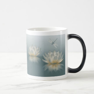 Lotus and Dragonfly Morph Mug