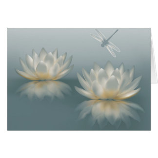 Lotus and Dragonfly Note Card