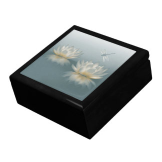 Lotus and Dragonfly Trinket Box