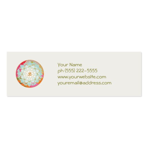 Lotus and Om Symbol Business Card