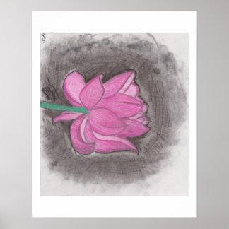 lotus art poster