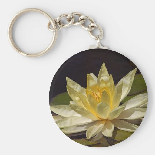 Lotus At The Reflecting Pond In Balboa Park Basic Round Button Keychain