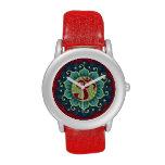 Lotus Aum - OM - reloj rojo, del azul y del trullo