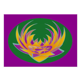 LOTUS Aura Energy n Holy Purple Background Poster