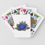 Lotus azul de neón baraja cartas de poker