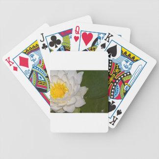 Lotus blanco baraja cartas de poker