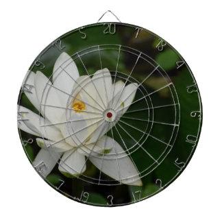 Lotus blanco tablero de dardos