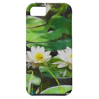 Lotus blanco en la charca iPhone 5 Case-Mate fundas