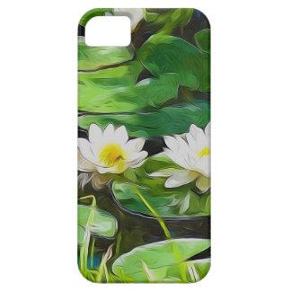 Lotus blanco en la charca iPhone 5 protector