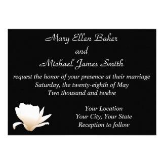 Lotus blanco que casa la invitación