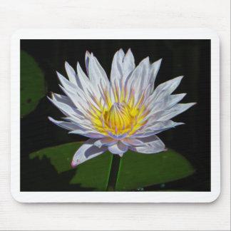 Lotus blanco alfombrilla de ratón