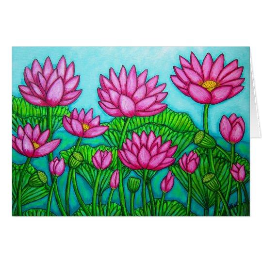 Lotus Bliss Garden Greeting Card