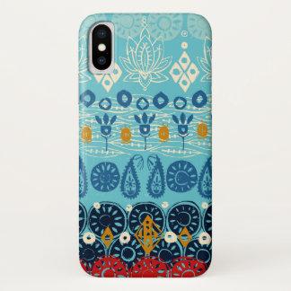 lotus block blue iPhone x case
