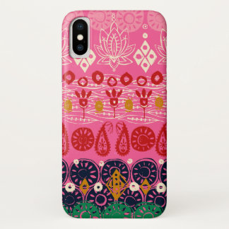lotus block pink iPhone x case