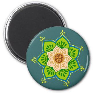 Lotus bloom lotus blossom 2 inch round magnet