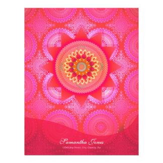 Lotus Bloom PInk Mandala Letterhead
