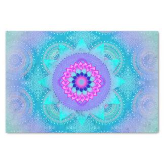 "Lotus Bloom Turquoise Mandala 10"" X 15"" Tissue Paper"