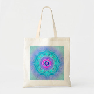 Lotus Bloom Turquoise Mandala ID129 Tote Bag