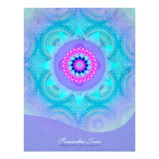 Lotus Bloom Turquoise Mandala Letterhead