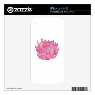 Lotus Blossom Decals For iPhone 4