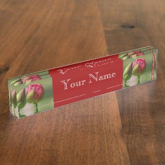 Lotus Blossom Desk Name Plate