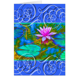 Lotus Blossom Get Well Beautiful Colors Greeting Card
