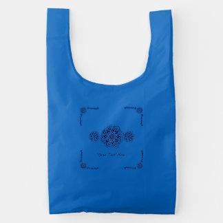 Lotus Blossom (Henna) (Blue) Reusable Bag