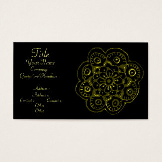 Lotus Blossom (Henna)(Gold) Business Card