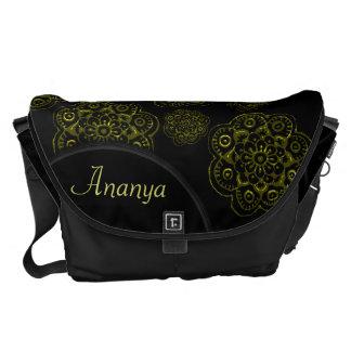 Lotus Blossom (Henna)(Gold) Messenger Bag