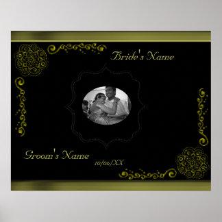 Lotus Blossom (Henna)(Gold) Poster