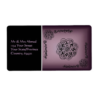 Lotus Blossom (Henna) Shipping Label