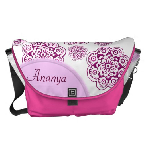 Lotus Blossom (Henna) (Pink) Courier Bags