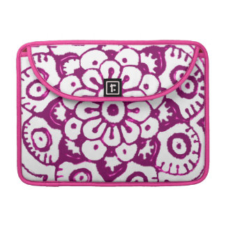 Lotus Blossom (Henna) (Pink) MacBook Pro Sleeves