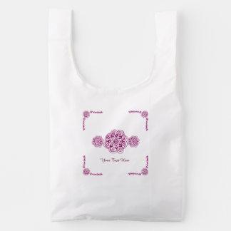 Lotus Blossom (Henna) (Pink) Reusable Bag