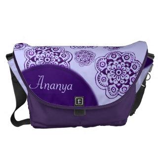 Lotus Blossom (Henna) (Purple) Courier Bag