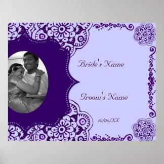 Lotus Blossom (Henna) (Purple) Poster