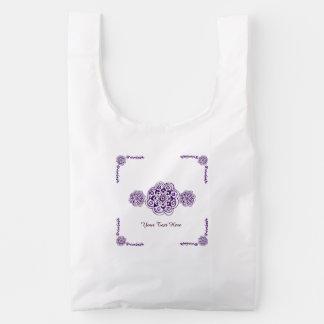 Lotus Blossom (Henna) (Purple) Reusable Bag