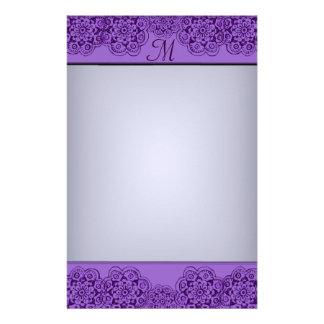 Lotus Blossom (Henna) (Purple) Stationery Design