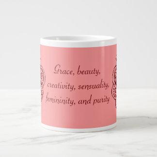 Lotus Blossom (Henna)(Red) Giant Coffee Mug