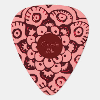 Lotus Blossom (Henna)(Red) Guitar Pick