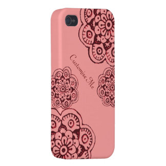 Lotus Blossom (Henna)(Red) iPhone 4/4S Cases