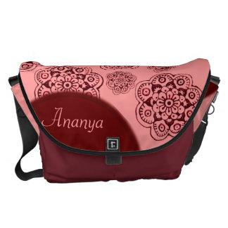 Lotus Blossom (Henna)(Red) Messenger Bag