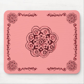 Lotus Blossom (Henna)(Red) Mousepads