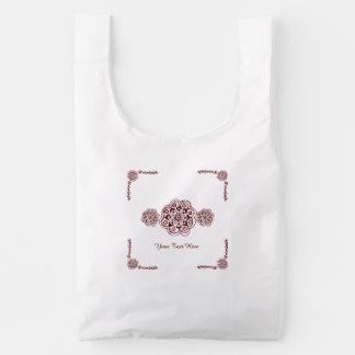 Lotus Blossom (Henna)(Red) Reusable Bag