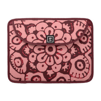 Lotus Blossom (Henna)(Red) Sleeves For MacBooks