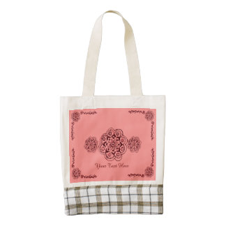 Lotus Blossom (Henna)(Red) Zazzle HEART Tote Bag