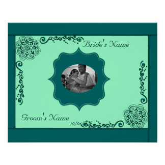 Lotus Blossom (Henna)(Teal) Poster