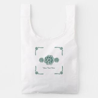 Lotus Blossom (Henna) (Teal) Reusable Bag