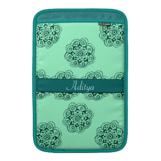 Lotus Blossom (Henna)(Teal) Sleeves For MacBook Air